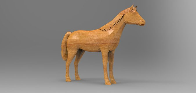 Perfect 3D model Wooden horse | CGTrader RC48