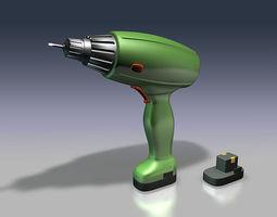 cordless screwdriver 3d model