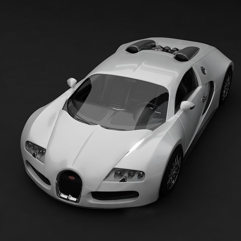bugatti veyron white 3d model max. Black Bedroom Furniture Sets. Home Design Ideas