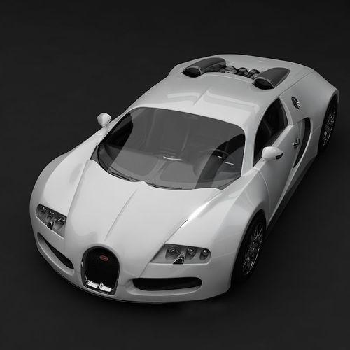 bugatti veyron white 3d model max. Black Bedroom Furniture Sets. Home Design Ideas