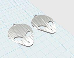 grey aliens face earrings  3d print model