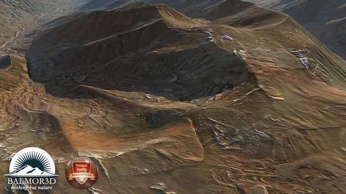 Rocky mountains South America3D model