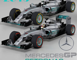 3d asset mercedes w06 hybrid game-ready