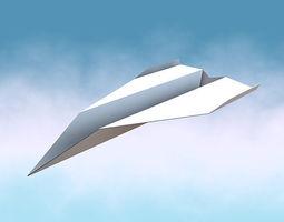 3d model paper jet