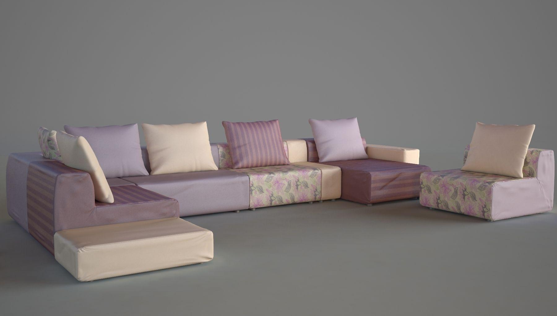 Sofa bed 3d model max fbx for Sofa bed 3d model