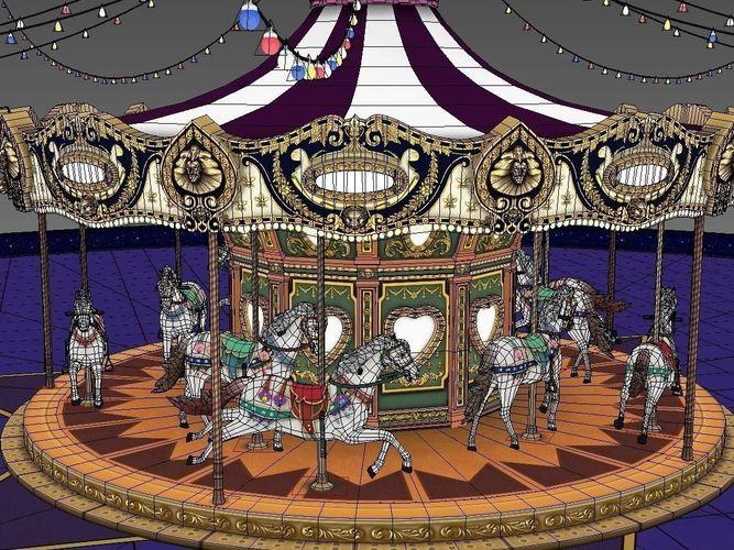 carrousel game model3D model