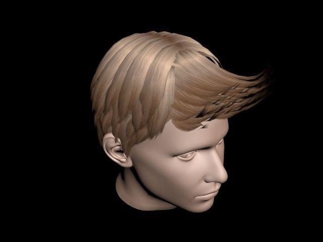 Haircut No 4 Short Brown Hair For Man 3d Cgtrader