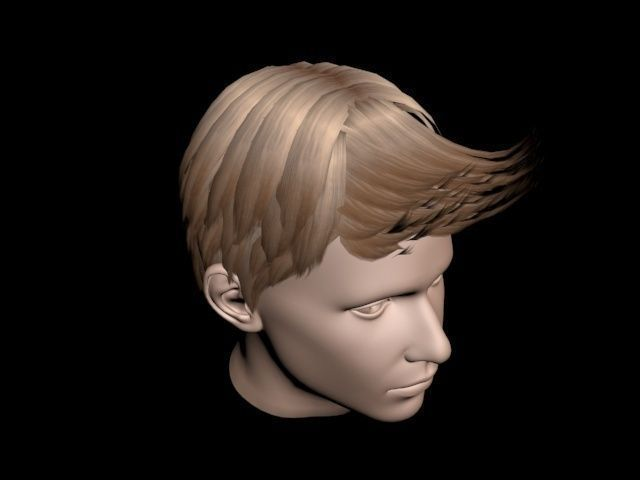 Haircut No 4  Short Brown Hair for Man 3D Model MAX OBJ FBX
