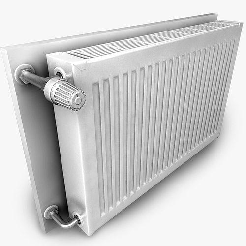 heating radiator 3d model obj mtl 3ds fbx c4d 1