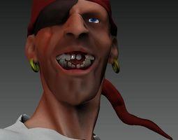 3D model miniature Pirate