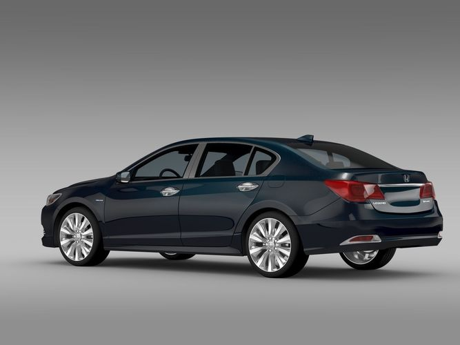 Honda Legend Hybrid 2015 3d Model Max Obj 3ds Fbx C4d