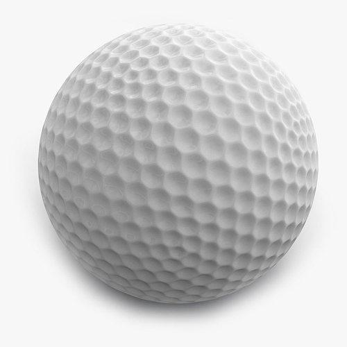 balle golf ball 3d model cgtrader. Black Bedroom Furniture Sets. Home Design Ideas