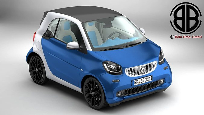 smart fortwo 2015 3d model max obj mtl 3ds fbx c4d lwo lw lws 1