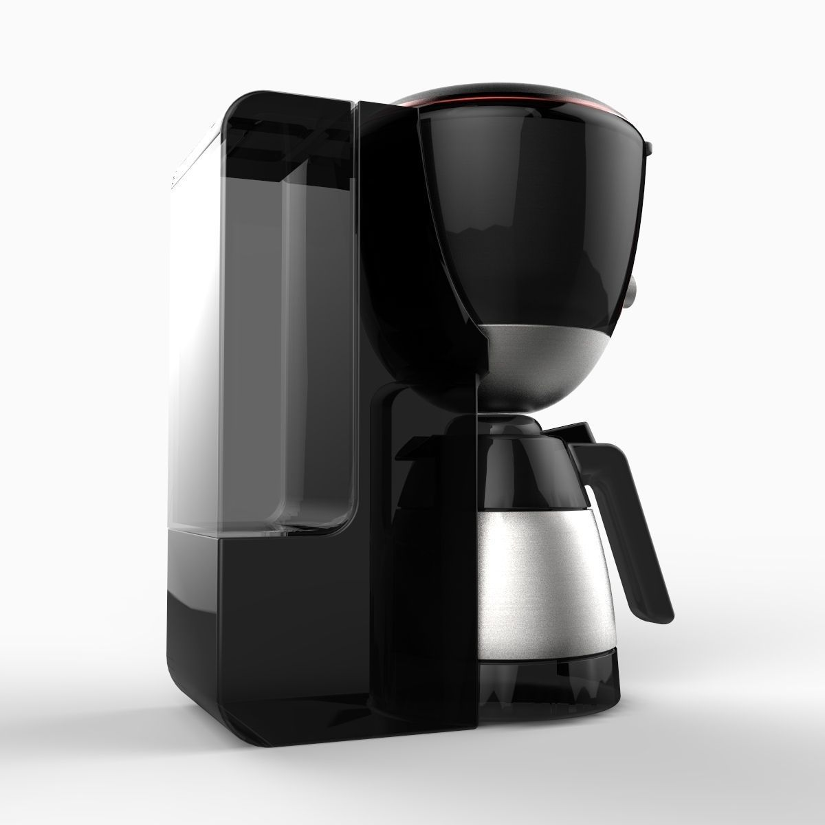 Realistic Coffee Maker 3D Model .max .obj .3ds .c4d .lwo ...