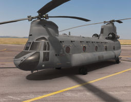 CH47D Chinook Helicopter 3D Model