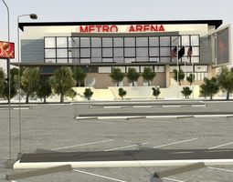 Metro Arena with Parking 3D Model