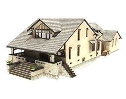 family house 3d animated