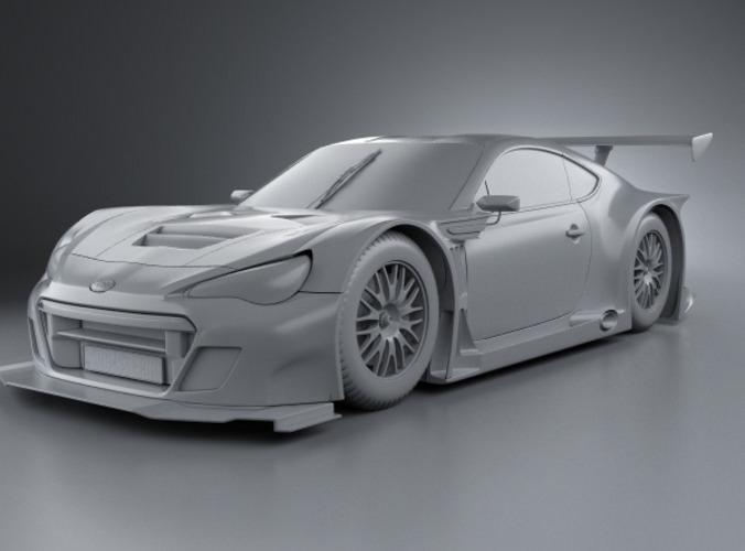 Subaru BRZ GT300 2013 3D Model .max .obj .3ds .fbx .c4d ...