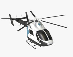 MD 900 Explorer Helicopter 3D Model