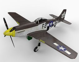 North American P51D Mustang 3D Model