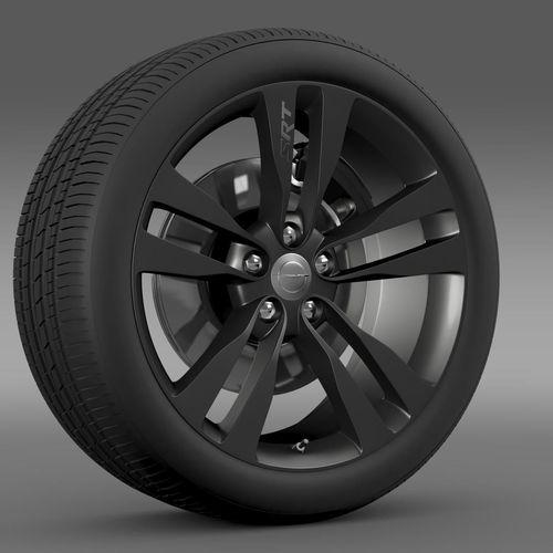 Chrysler 300 SRT8 Satin Vapor wheel3D model