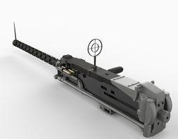 M2 Machine Gun 3D Model