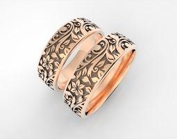 3D printable model Flowers ornament rings