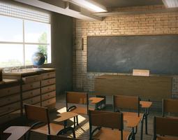 3d class room school