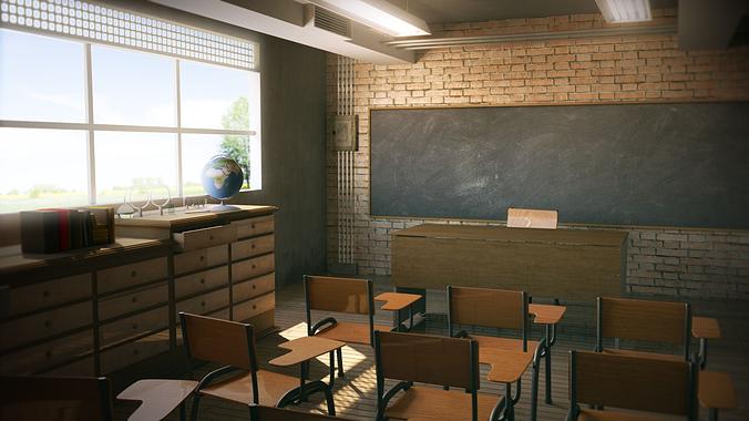 Class Room School 3d Model Cgtrader