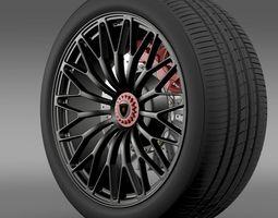 Lamborghini Aventador LP 750 4 SV wheel 3D Model