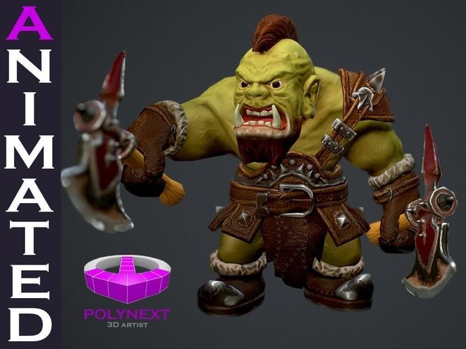 Orc Berserker3D model