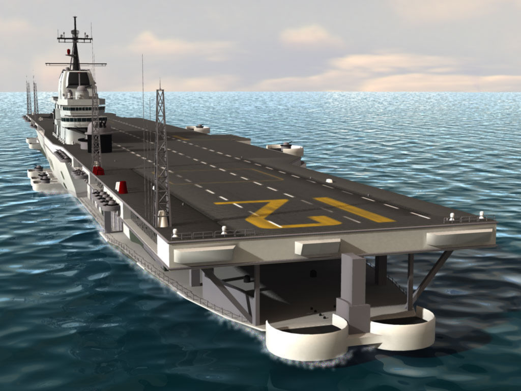 uss hornet aircraft carrier 3d model  max  obj  3ds  c4d