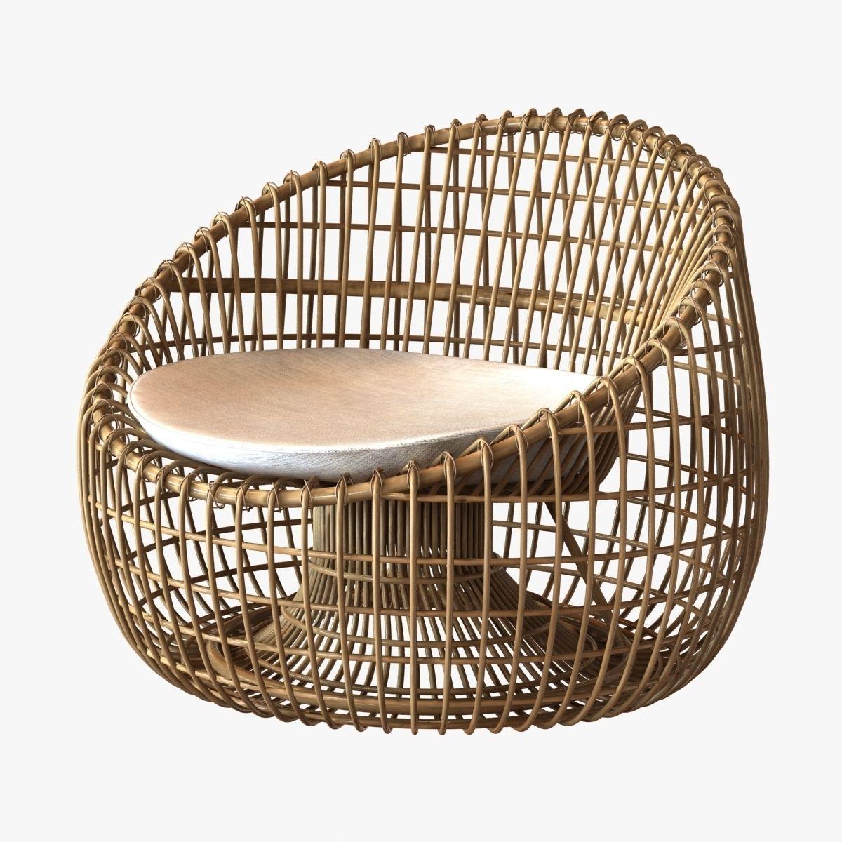Cane line nest lounge chair 3d model max obj 3ds fbx for Decoration 3d model free download