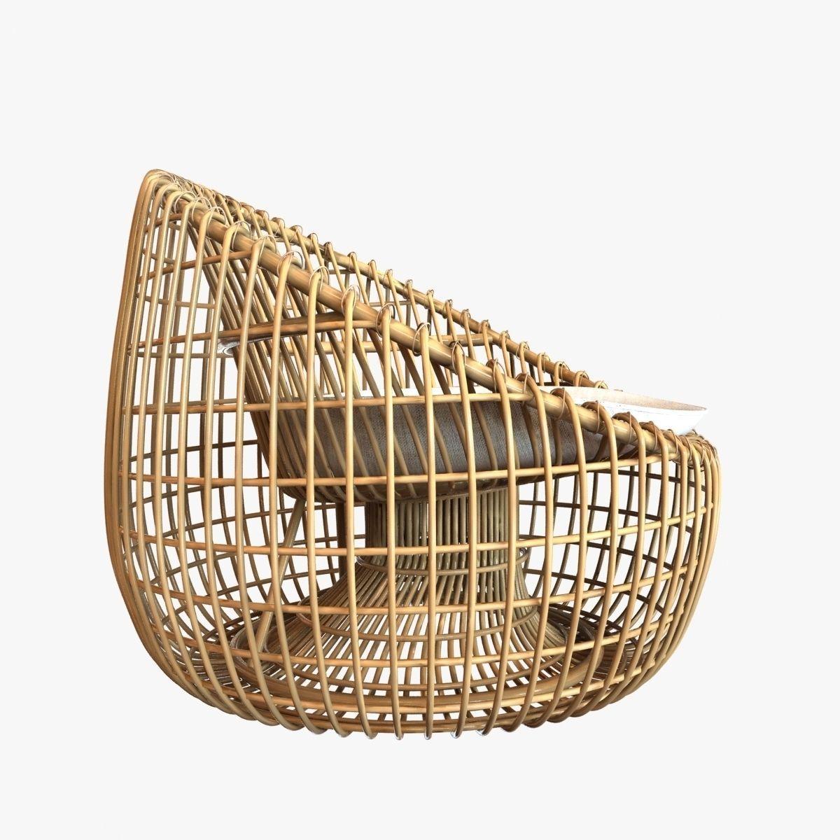 Ordinaire ... Cane Line Nest Lounge Chair 3d Model Max Obj 3ds Fbx Mtl Unitypackage 3  ...
