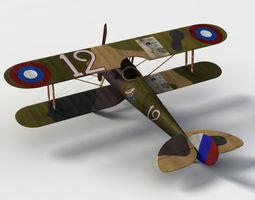 Nieuport 28 plane 3D Model