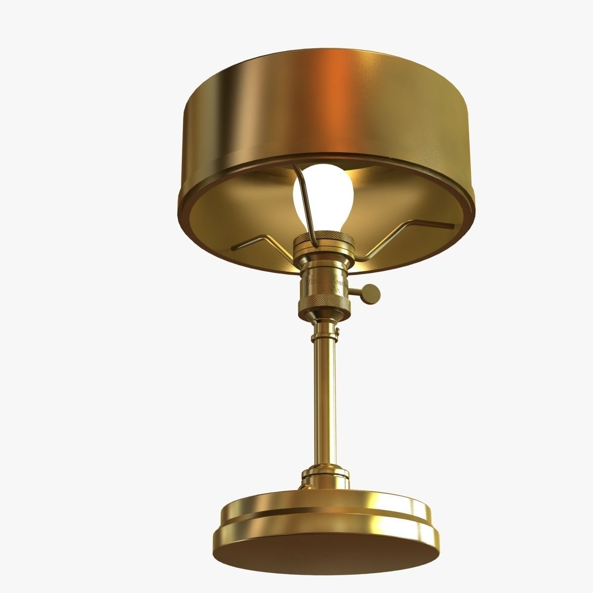 ... Thomas O Brien Henley Table Lamp In Hand Rubbed Antique Brass By 3d  Model Max ...