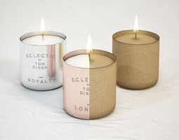 tom dixon eclectic scented candles 3d