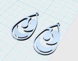 3d print model drop earrings