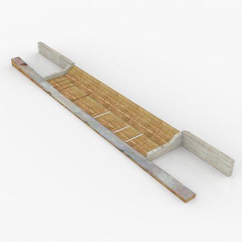 chinaman creek dam 3d model low-poly obj dae skp mtl 1