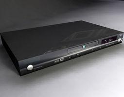 Black DVD Player 3D Model