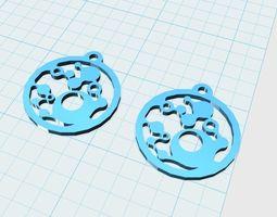 abstract earrings model 1