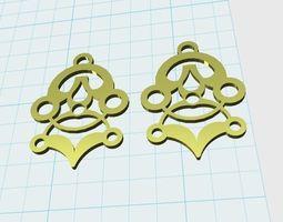 abstract earrings model 3