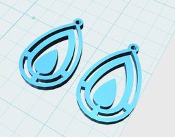 concentric earrings drop model 1