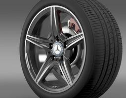 mercedes benz c 400 4matic amg line wheel 3d model
