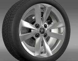 3d model skoda citigo wheel