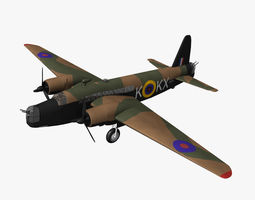 Vickers Wellington 3D Model