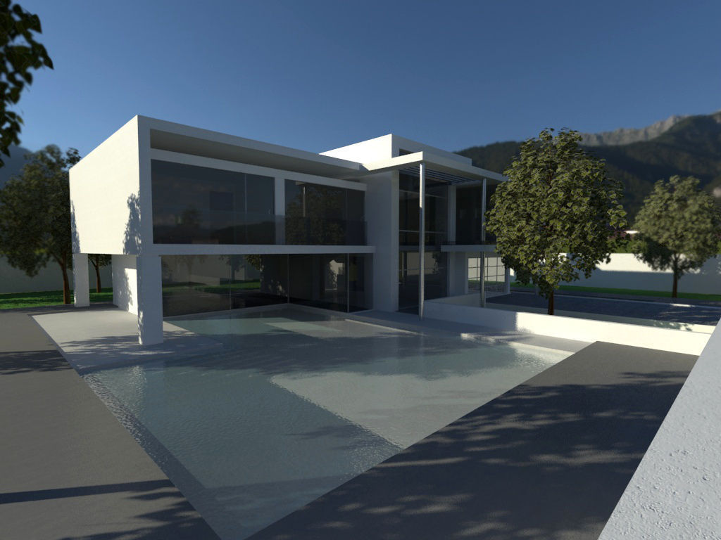 Contemporary luxury home 3d model Home 3d model