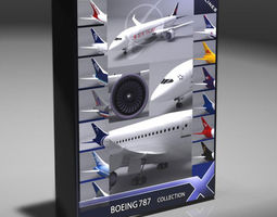 B787 Dreamliner Collection 3D Model