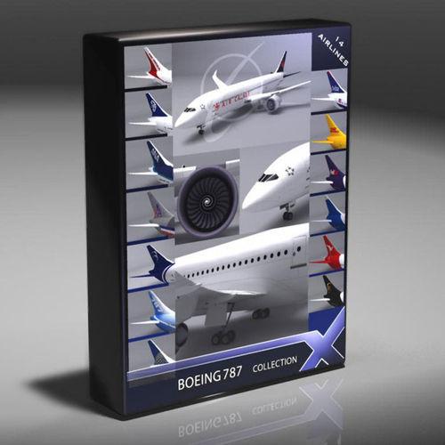 B787 Dreamliner Collection3D model