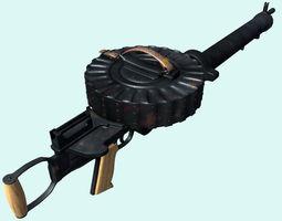 Lewis Machinegun 3D Model